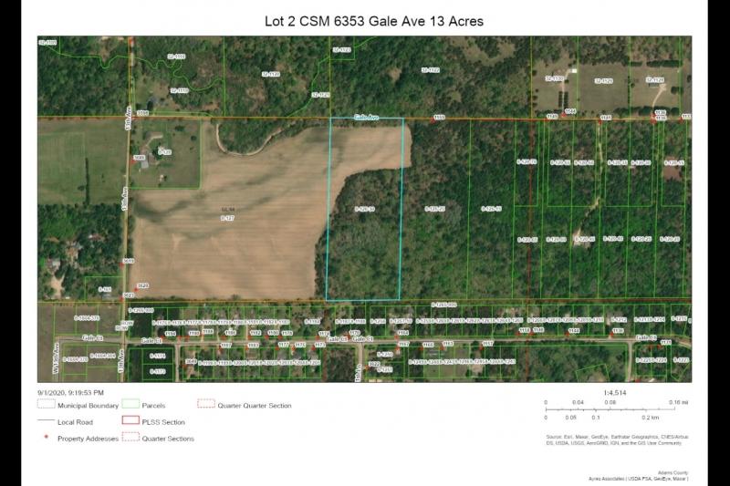 Aerial Map Lot 2 CSM 6353 Gale Av
