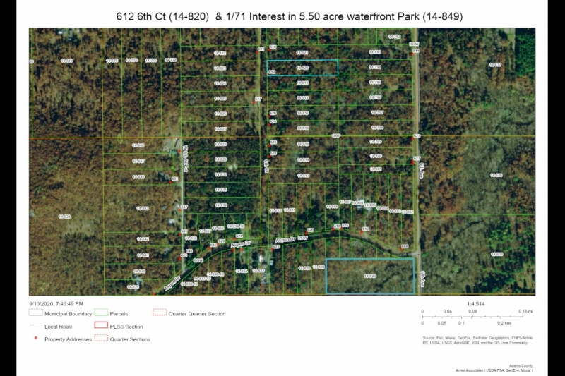 AERIAL Map 612 6th Ct showing Park