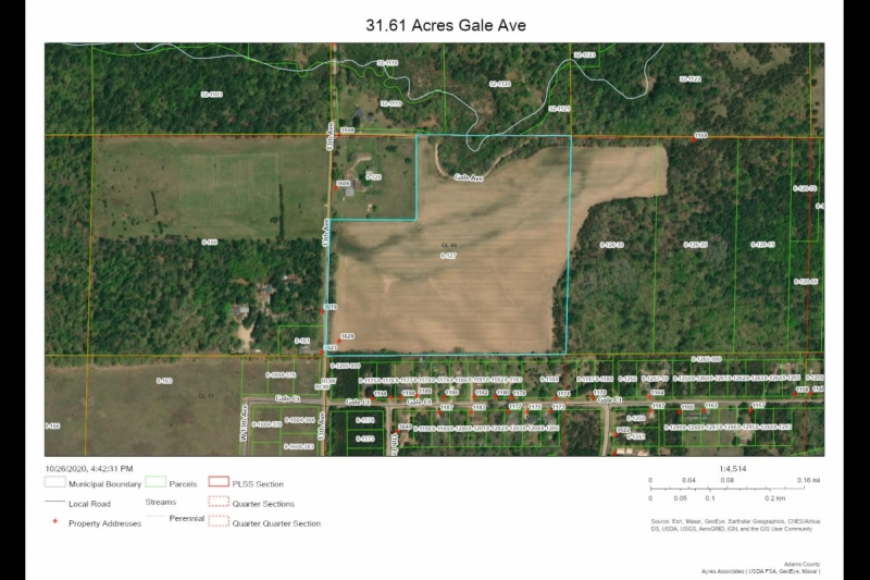 31.61 Acres Gale Ave Aerial Map