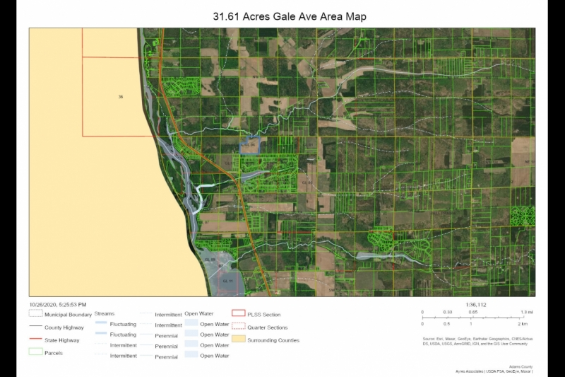31.61 Acres Gale Ave AREA Map
