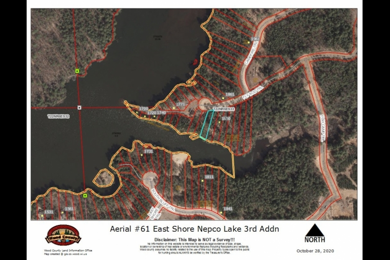 Aerial Map Lot 61 3rd Addn East Shore Nepco Lk