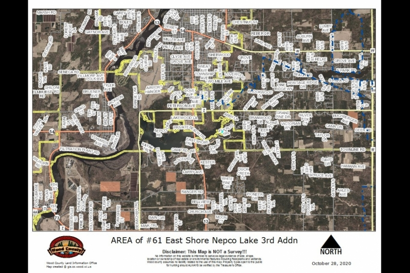 AREA Map Lot 61 3rd Addn East Shore Nepco Lk