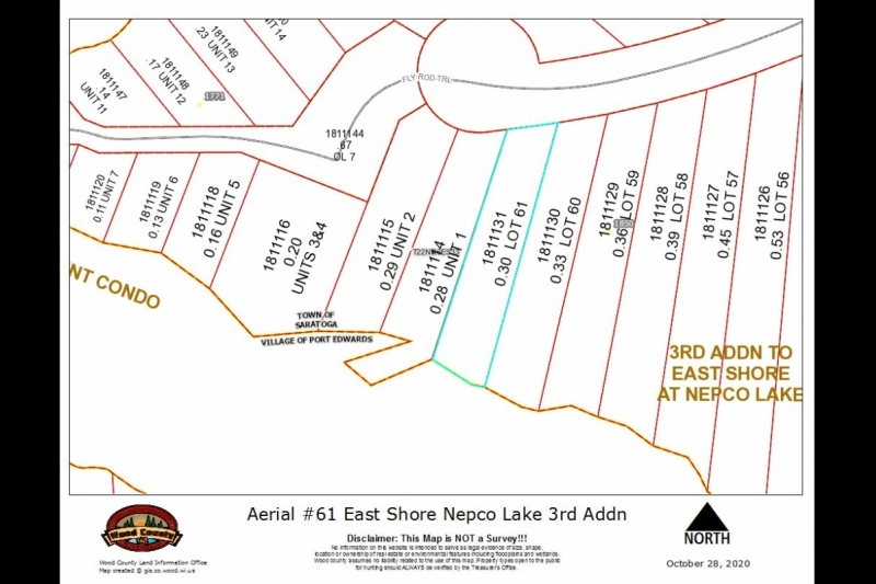 Parcel Map Lot 61 3rd Addn East Shore Nepco Lk