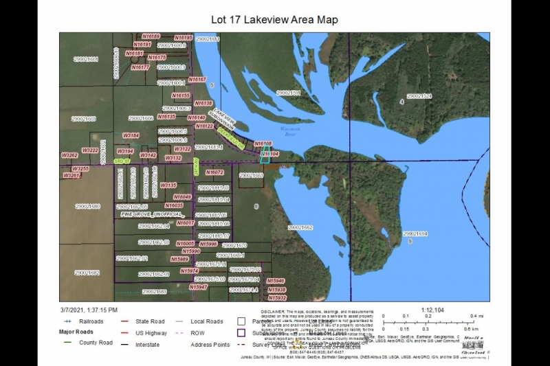 Lot 17 Lakeview Area Map