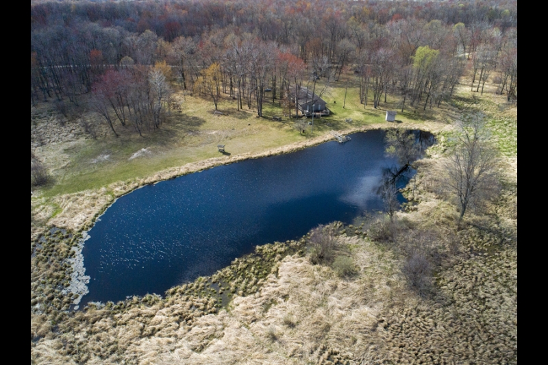 456 Cottonville Ln - 220 Acres Home Garage Private Pond Aerial Summer