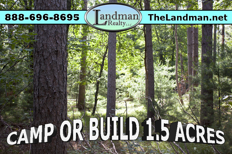 Camp or build on ATV and Snowmobile Routes