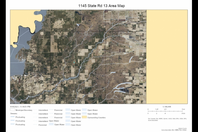 AREA map 1145 STH 13