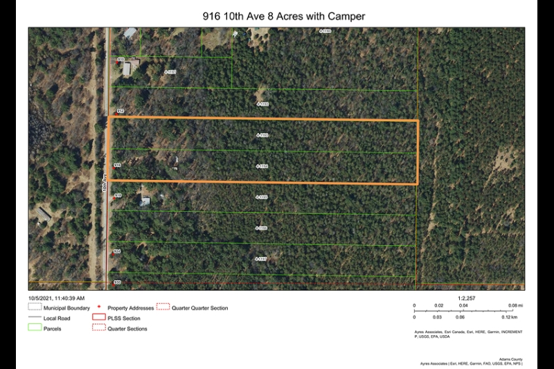 916 10th Ave 8 Acres with Camper