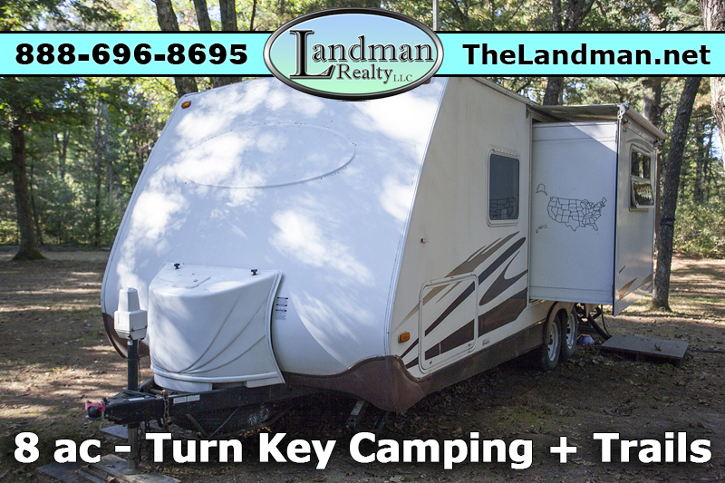 Fully Wooded Turn Key Camping Property for Sale with Camper - Buildable