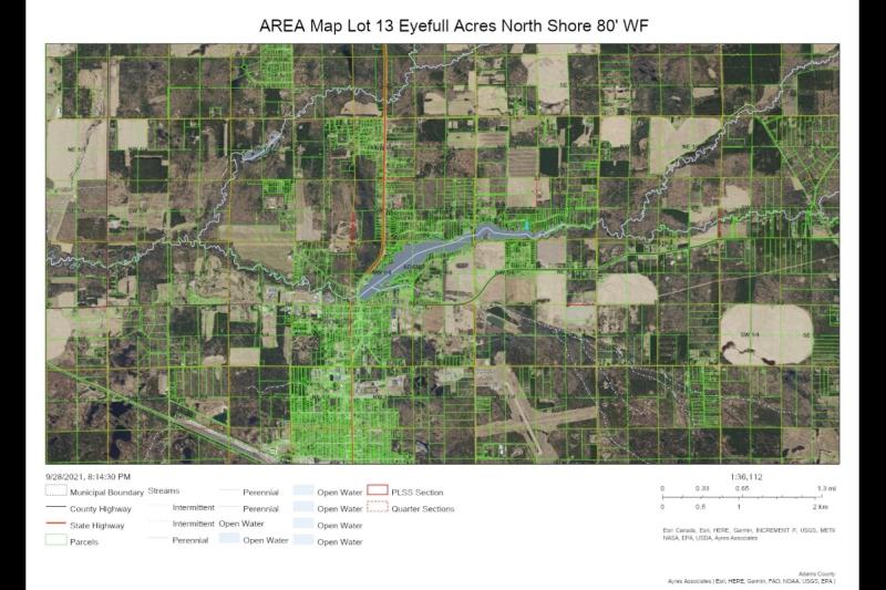 #2 AREA Map Lot 13 Eyefull Ac NS 80' WF