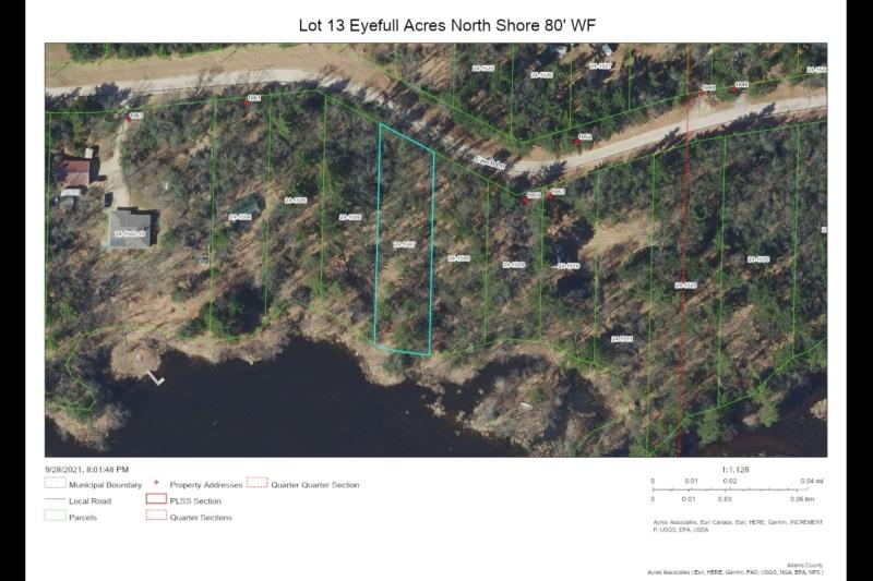 Aerial Map Lot 13 Eyefull Ac NS 80' WF