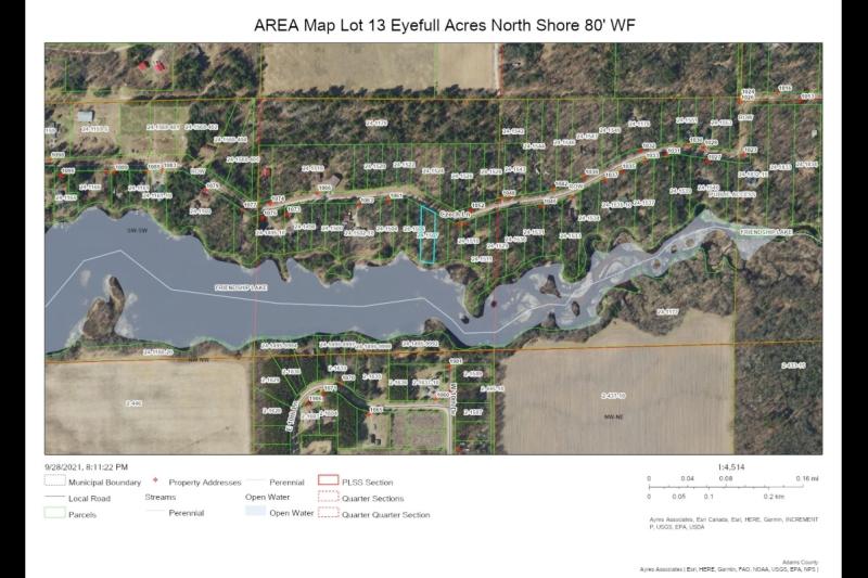 AREA Map Lot 13 Eyefull Ac NS 80' WF