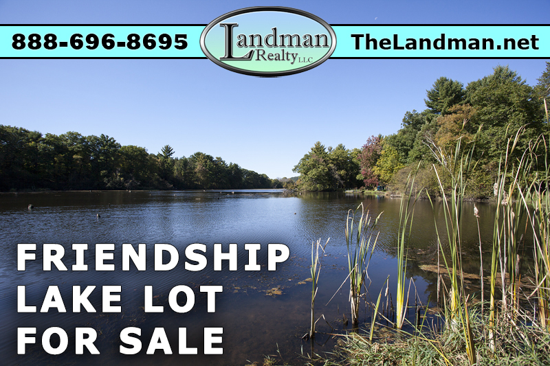 Friendship Lake WI Lakefront Building Site for Sale