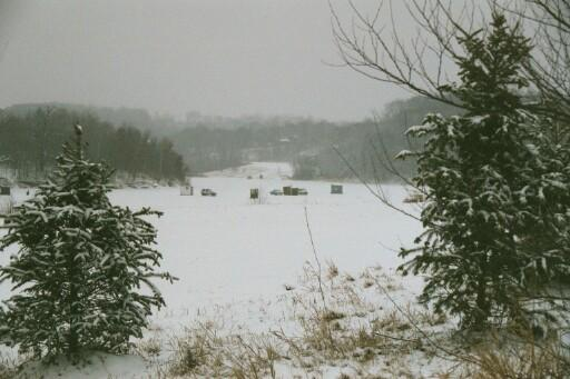 nice winter shot of dutch hollow lake area