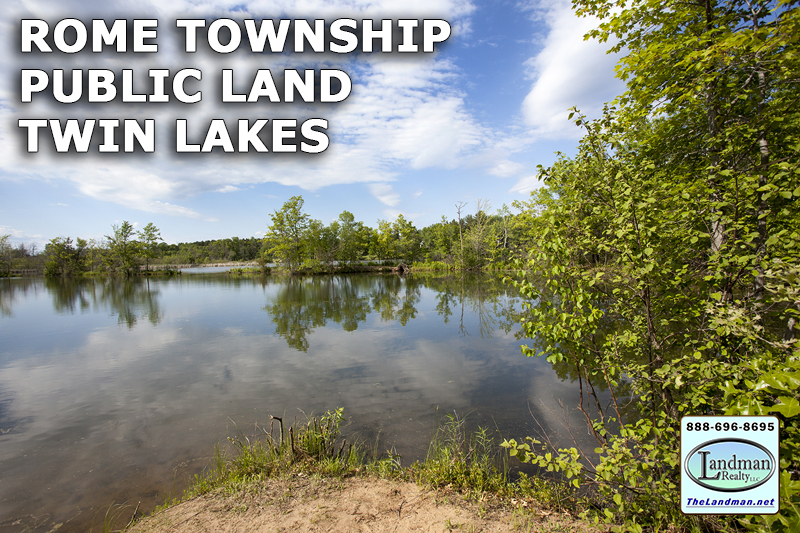 Rome Township WI Public Land on Twin Lakes